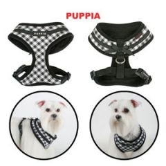 Puppia Softgeschirr Lattice Schwarz